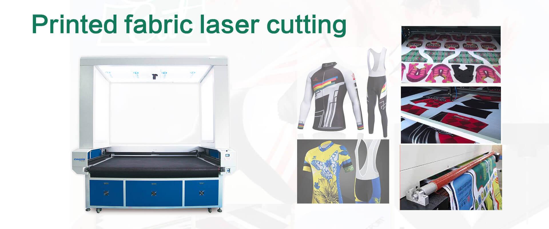 printed fabric laser cutting machine