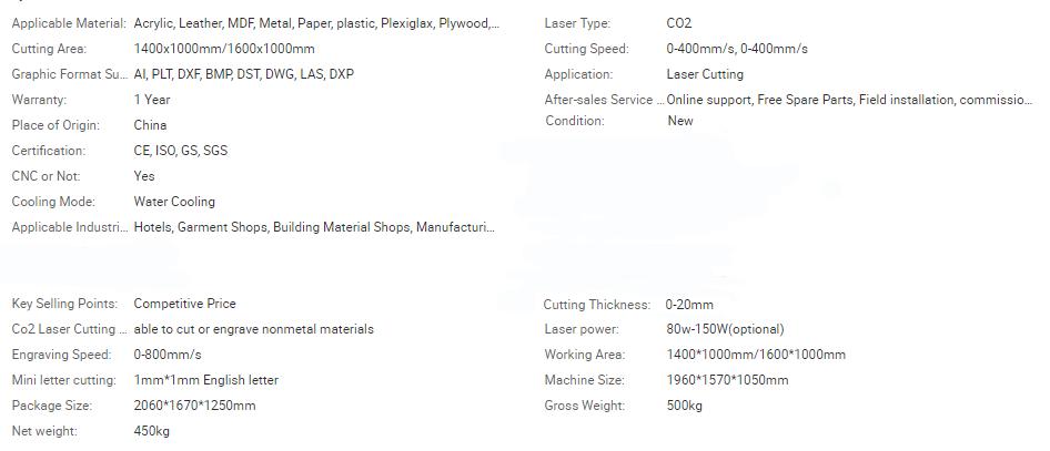 Fabrics and Leather Laser Cutting Machine CW1810