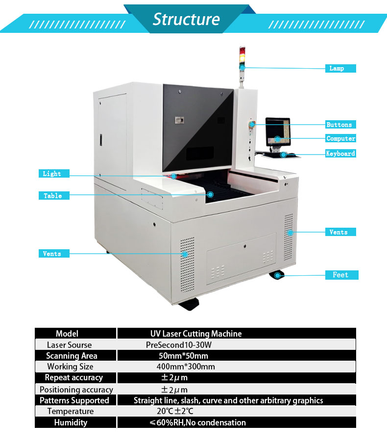 UV Laser Scribing Machine Cell Laser Cutting Machine
