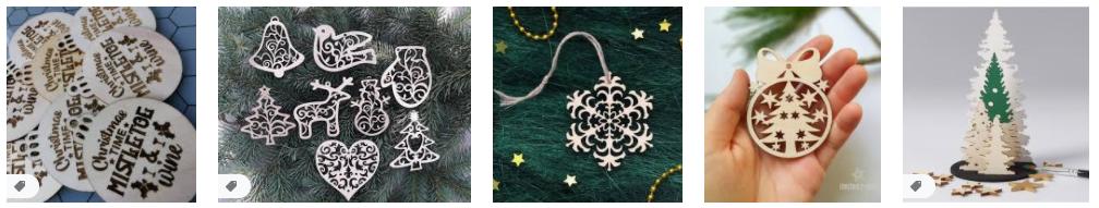 laser cut christmas decorations