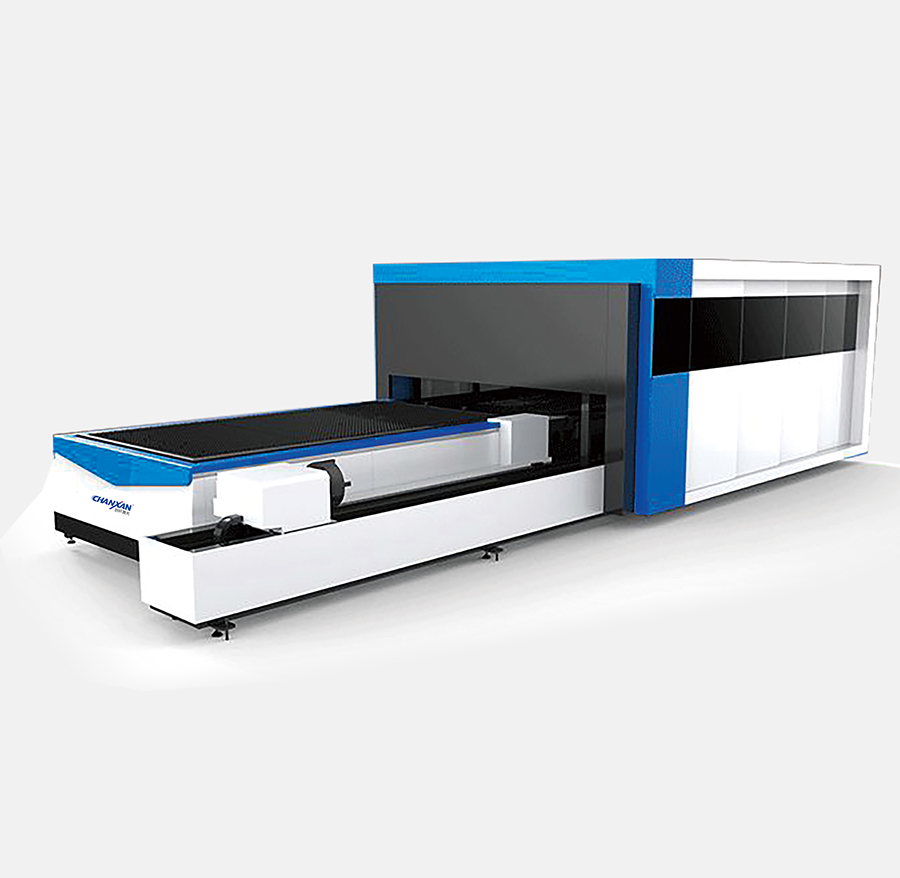 CX-2030J-C FULLY COVERED FIBER LASER CUTTING  MACHINE WITH EXCHANGE PLATFORMS