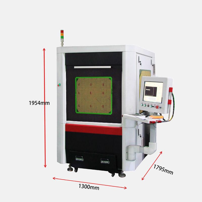 CW-6060J-V Hot selling label cutting ccd mini fiber laser cutting machine